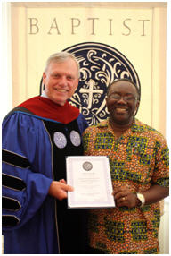 Dr Crawford and Albert Kwabi