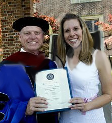 Pictured: Dr. Ron Crawford, President and GRACE Award recipient Lori Strickland